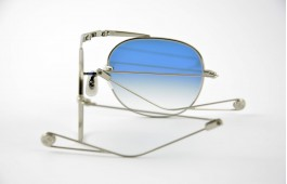 Garrett Leight - Van Buren - Silver With Platinum Blue Gradient Mirror