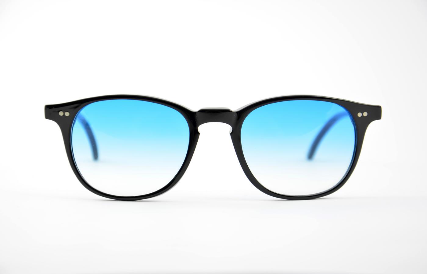 design senza tempo 770cd 1b873 Kador - K716 - nero con lenti azzurro sfumato