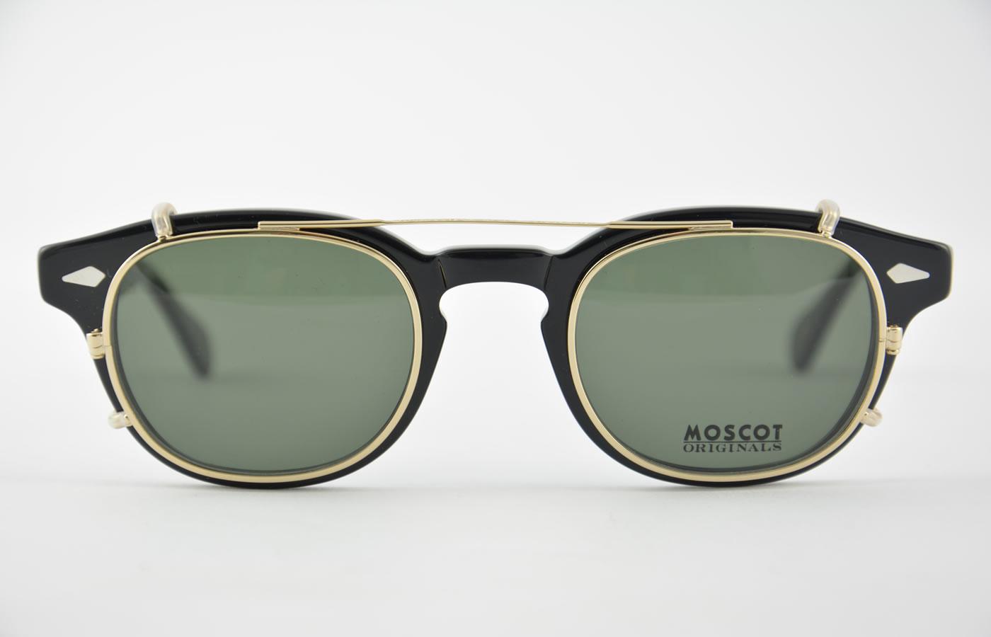 5763ed851ae Moscot - Lemtosh - Black + Cliptosh - Gold G-15 ...